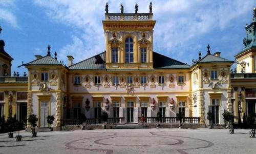 Zdjecie POLSKA / mazowieckie / Wilanów / Centralna część pałacu.