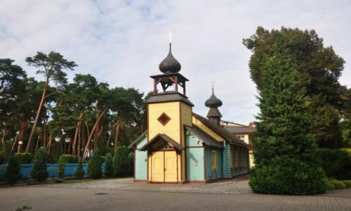 Zdjecie POLSKA / kujawsko-pomorskie / Ciechocinek / Drewniana cerkiew w Ciechocinku