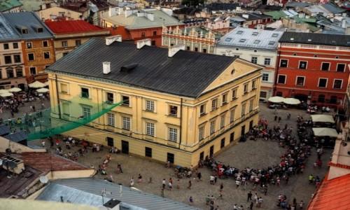 Zdjecie POLSKA / woj. lubelskie / Lublin/Carnaval Sztukmistrzów / Stare miasto z góry