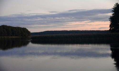 Zdjecie POLSKA / Wigierski Park Narodowy / Jezioro Wigry / Zmierzch nad jeziorem