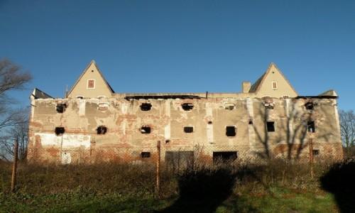Zdjecie POLSKA / opolskie / Siestrzechowice / Pałac od strony folwarku