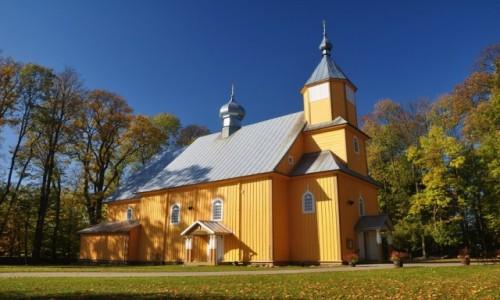 Zdjecie POLSKA / podlaskie / Nowoberezowo / Nowoberezowo, drewniana cerkiew