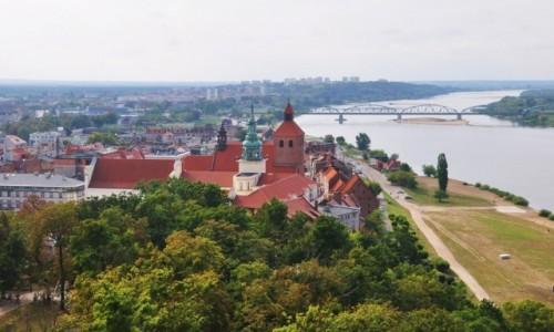 Zdjecie POLSKA / kujawsko-pomorskie / Grudziądz / Widok na Grudziądz z wieży Klimek