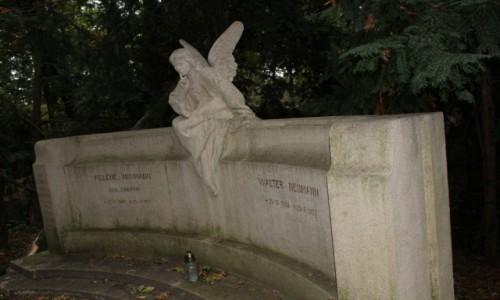 Zdjecie POLSKA / Zachodniopomorskie / Szczecin / Rzeźba na grobie rodziny Neumann