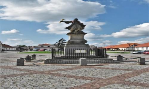 Zdjęcie POLSKA / Białostockie / Tykocin / Tykocin, XVIII wieczny pomnik Stefana Czarnieckiego