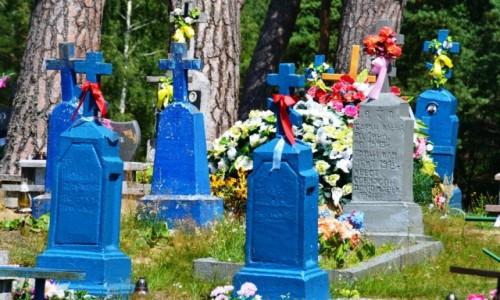 POLSKA / Podlaskie / Zubacze / Kolorowy cmentarz