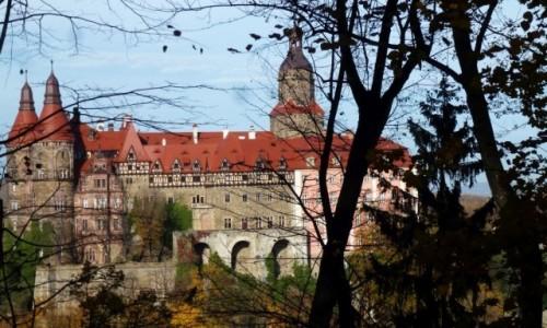 Zdjęcie POLSKA / Dolny Śląsk / Wałbrzych / zamek Książ w jesiennej oprawie