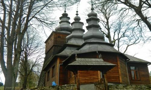 Zdjecie POLSKA / pow. nowosądecki. / gmina Krynica Zdrój. / Wojkowa - cerkiew św. św. Kosmy i Damiana.
