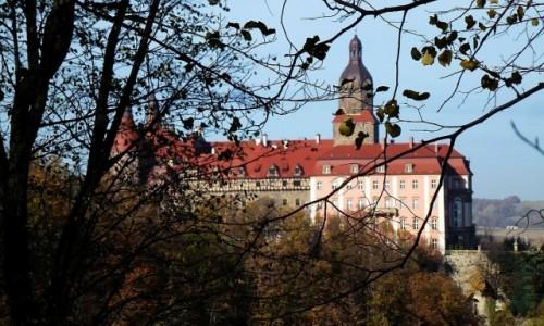 POLSKA / Dolny Śląsk / Wałbrzych / zamek Książ w jesiennej oprawie