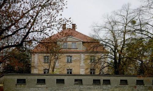 POLSKA / opolskie / Karczów / Pałac, widok od strony północnej