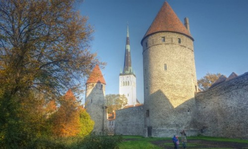 Zdjecie ESTONIA / Harjumaa / Tallinn / Jesienny Tallin