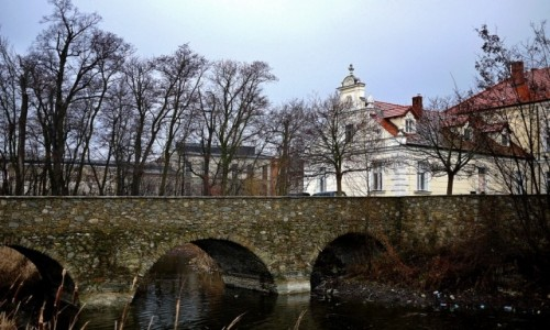 Zdjecie POLSKA / dolnoślaskie / Kondradowice / Most dojazdowy i fragment pałacu.