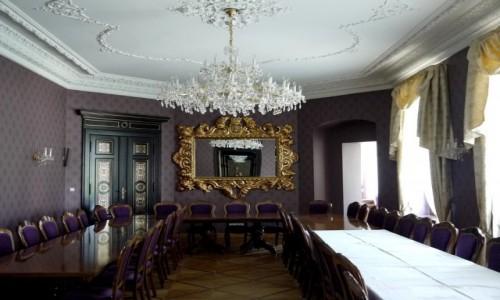 Zdjecie POLSKA / wielkopolskie / Tarce / Sala biesiadna w pałacu