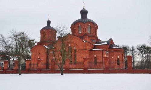 Zdjecie POLSKA / podlaskie / Białowieża / Zimowe Podlasie. Cerkiew w Białowieży