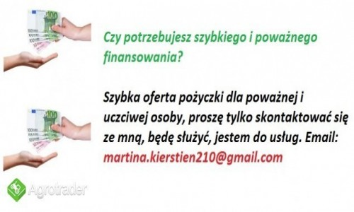 Zdjecie POLSKA / Warszawa / Warszawa / Kredyt i pożyczki osobiste szybko i bez dowodu atramentu E-mail: martinakiersteinfr@gmail.com