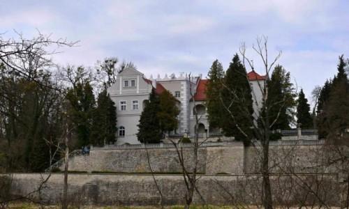 Zdjecie POLSKA / opolskie / Rogów Opolski / Widok zamku od strony Odry