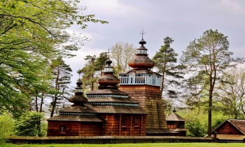 POLSKA / województwo podkarpackie / Sanok / Cerkiew Narodzenia Bogurodzicy z 1801 roku