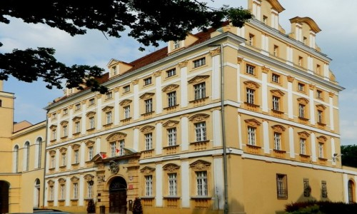 POLSKA / dolnośląskie / Oława / Widok przednio boczny pałacu