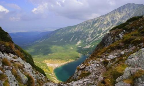 Zdjecie POLSKA / Tatry / przełęcz Karb / widok na Czarny Staw Gąsienicowy