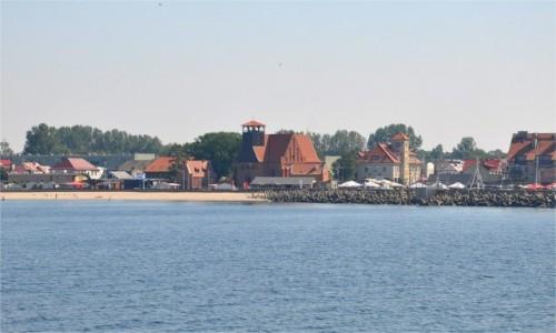 POLSKA / pomorskie / Hel / Widok na Hel od strony Zatoki Puckiej