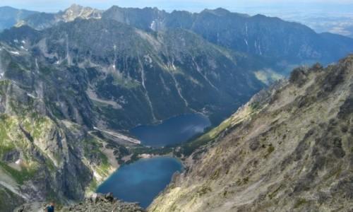 Zdjecie POLSKA / Tatry / gdzieś na szlaku / zatrzymana chwila z najwyższego szczytu w Polsce