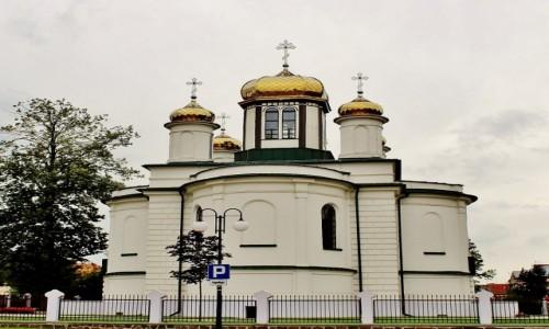 Zdjecie POLSKA / województwo podlaskie / Sokółka / Tył cerkwi Aleksandra Newskiego