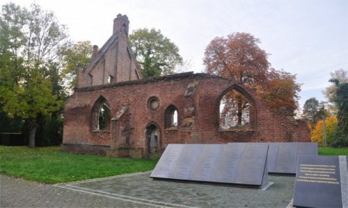 Zdjecie POLSKA / zachodniopomorskie / Chojna / Ruiny kaplicy św Gertrudy z 1409 roku