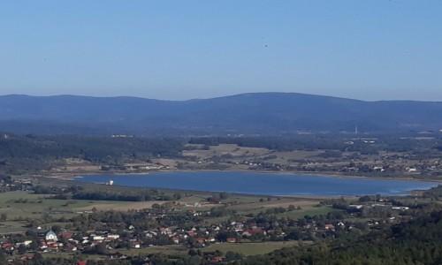 Zdjęcie POLSKA / Dolny Śląsk / Sosnówka / Zbiornik w Sosnówce, widok z Zamku Chojnik
