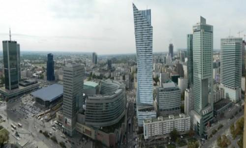 Zdjecie POLSKA / Warszawa. / PKiN. / Panorama z PKiN.