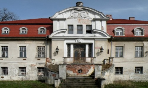 POLSKA / opolskie / Wronów / Fronton pałacu we Wronowie
