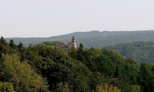 POLSKA / dolnośląskie / Zagórze Śląskie / Zamek Grodno z oddali.