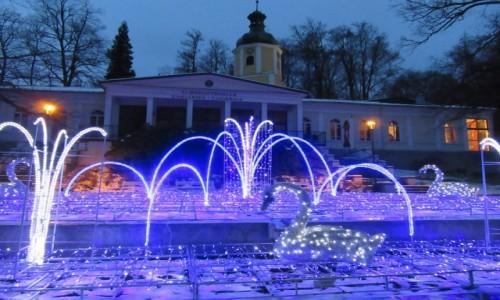Zdjęcie POLSKA / Lądek Zdrój / Lądek Zdrój / Albrechtschalle nocą - Lądek Zdrój