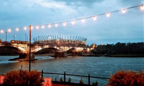 Zdjecie POLSKA / mazowieckie / Warszawa / przystanek z widokiem na stadion