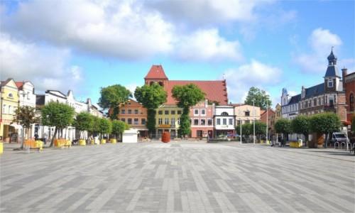 POLSKA / pomorskie / Puck / Rynek w Pucku