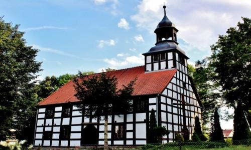 Zdjecie POLSKA / województwo lubuskie / Gorzyca / Kościół szachulcowy z 1736 roku
