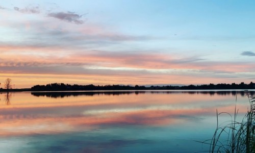 POLSKA / kujawsko-pomorskie / Wenecja / Pastelowy zachód słońca
