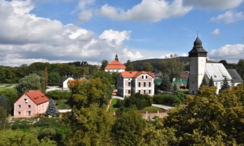 POLSKA / województwo dolnośląskie / Siedlęcin / Widok z wieży