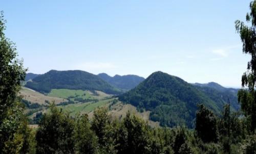 POLSKA / dolnośląskie / Boguszów-Gorce / Widok na Stożek Wielki, Lesistą Wielką, Stachoń, Ostrosz