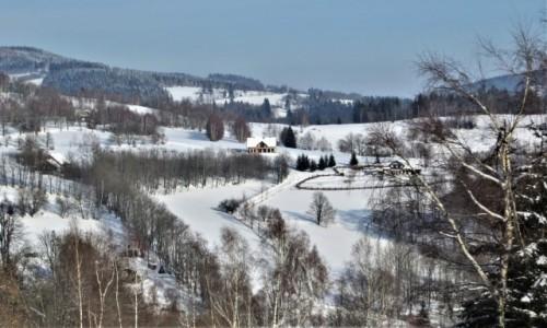 Zdjecie POLSKA / Dolny Śląsk / Rudawski Park Krajobrazowy / otulona śnieżnym puchem...