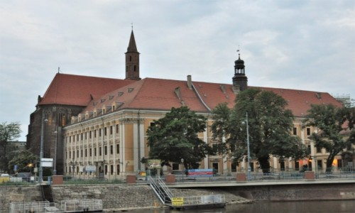 POLSKA / Dolny Śląsk / Wrocław / Wrocław, obecnie uniwersytet, pierwszy klasztor franciszkański XIII w.