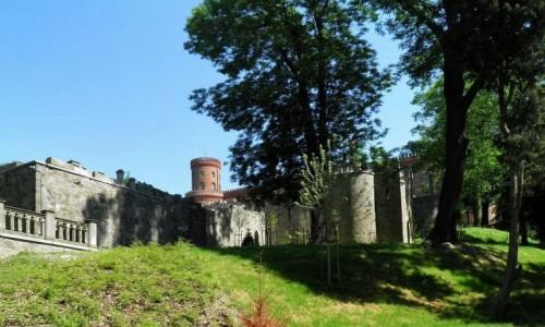 Zdjecie POLSKA / dolnoślaskie / Kamieniec Ząbkowicki / Widok na zamek