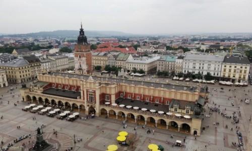 Zdjecie POLSKA / woj.małopolskie / Kraków. / Kraków - widok z Wieży Mariackiej.