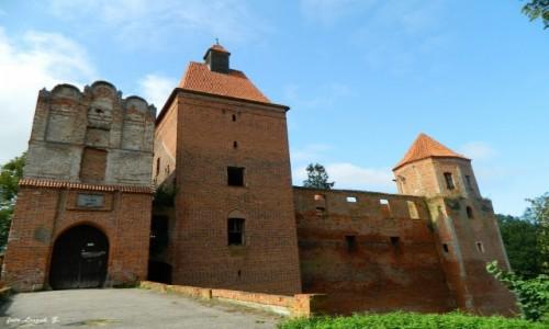 POLSKA / warmińsko-mazurskie / Szymbark koło Iławy. / Szymbark - Ruiny zamku 12 wież.