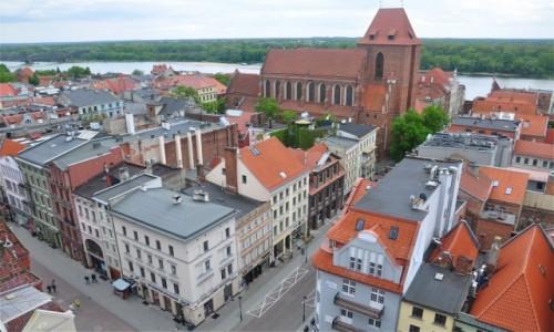 POLSKA / kujawsko-pomorskie / Toruń / Widok z wieży Ratusza