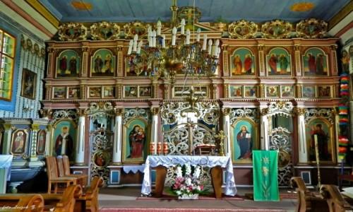 Zdjęcie POLSKA / pow. Nowosądecki. / gmina Muszyna. / Leluchów - cerkiew św. Dymitra - ikonostas.