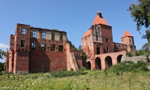 Zdjęcie POLSKA / warmińsko-mazurskie / Szymbark koło Iławy. / Szymbark - Ruiny zamku 12 wież.