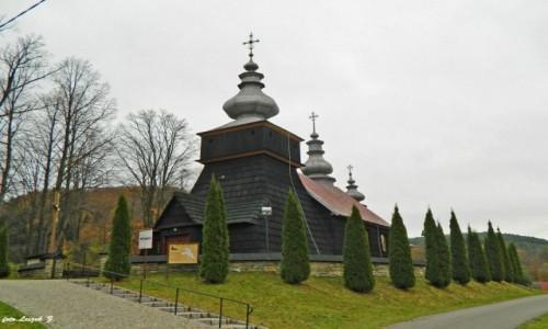 POLSKA / pow. nowosądecki. / gmina Krynica Zdrój. / Polany - cerkiew św. Michała Archanioła.