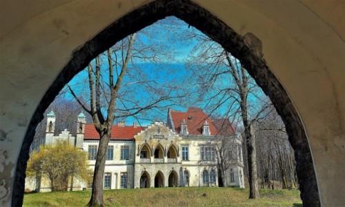 POLSKA / Jura Krakowsko-Częstochowska / Młoszowa / XIX-wieczny pałac Florkiewiczów