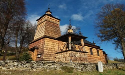 POLSKA / pow. nowosądecki. / gmina Muszyna. / Leluchów - cerkiew św. Dymitra.