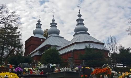 POLSKA / pow. nowosądecki. / gmina Krynica Zdrój. / Mochnaczka - Cerkiw św. Michała Archanioła.